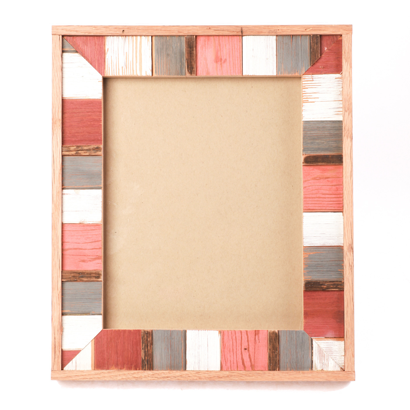 "Artisan, Eco-Friendly, Designer Mosaic Frame Red Clay 8"" x 10"""