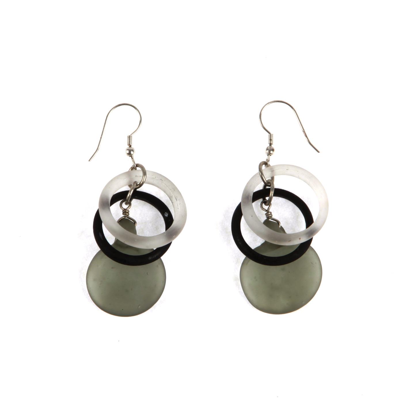 Artisan, Eco-Friendly, Designer Inner Circle Earrings