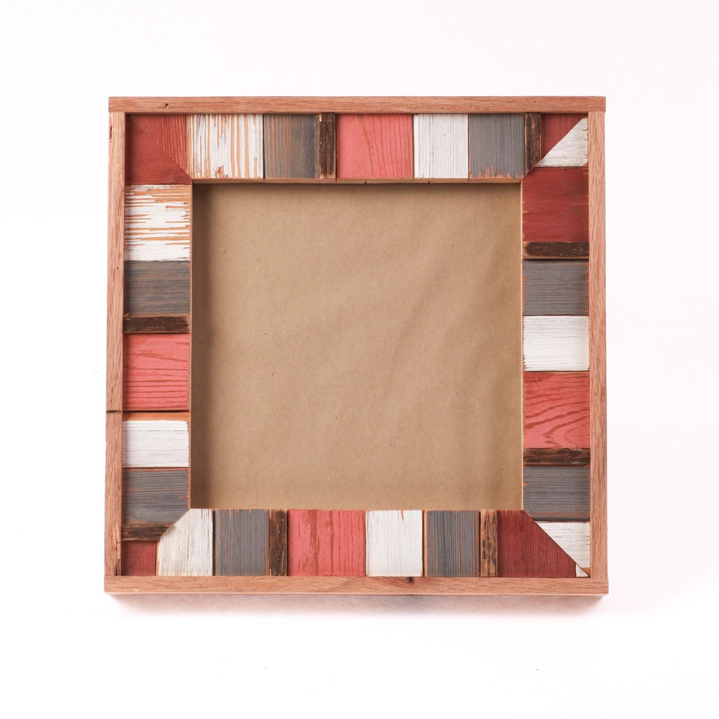 "Artisan, Eco-Friendly, Designer L7 Frame Red Clay 8"" x 8"""