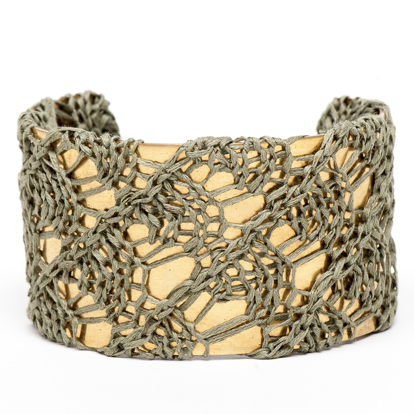Artisan, Eco-Friendly, Designer Straight Laced Cuff