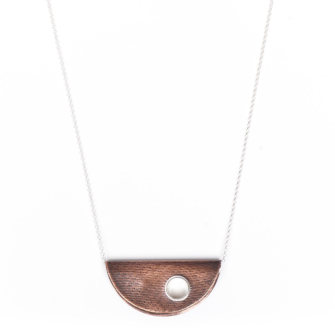 Artisan, Eco-Friendly, Designer Half Moon Necklace