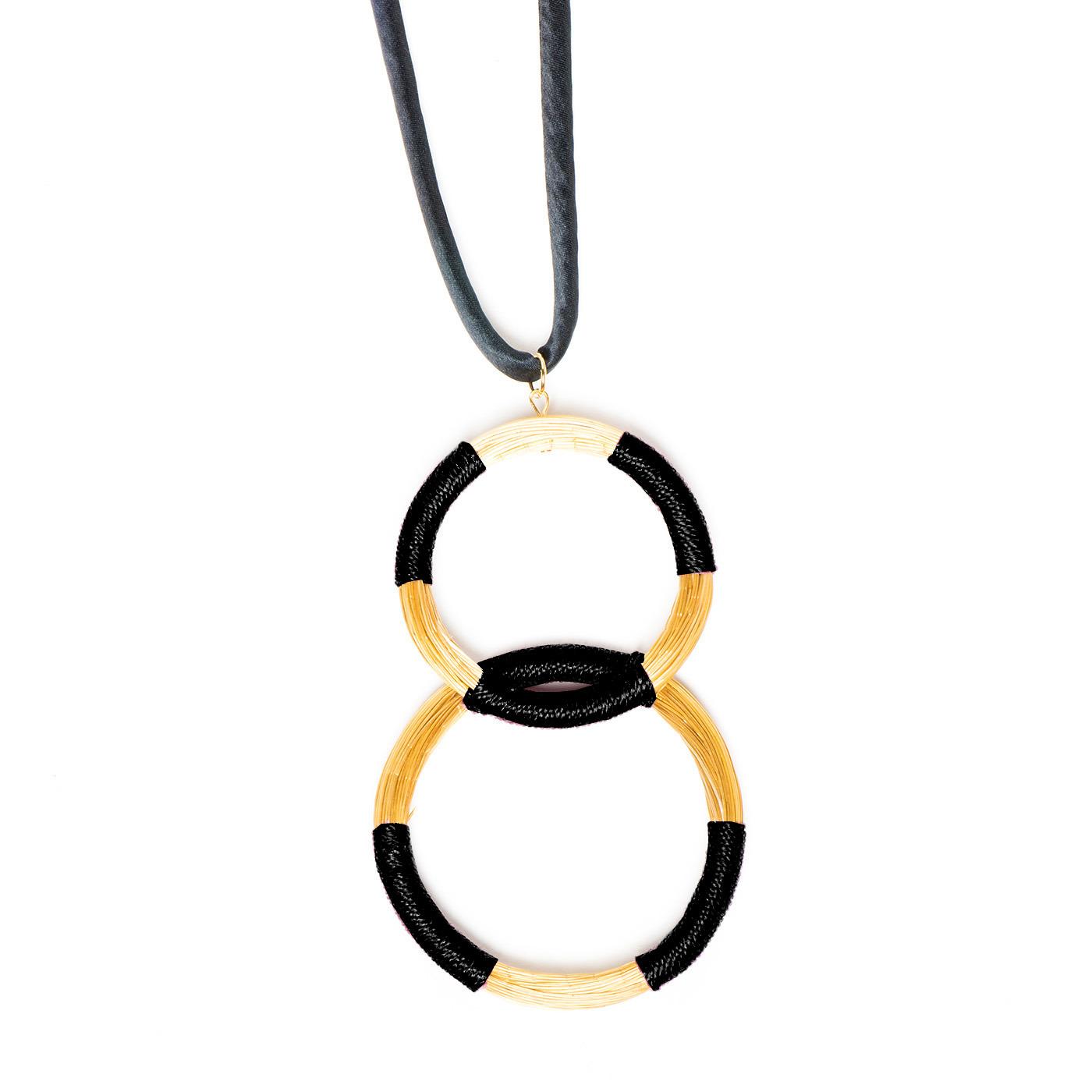 Artisan, Eco-Friendly, Designer Threaded Hoop Necklace