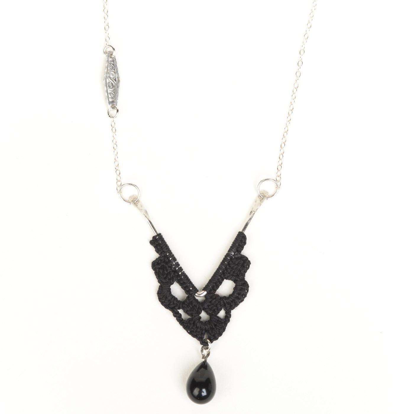 Artisan, Eco-Friendly, Designer Vintage V Necklace