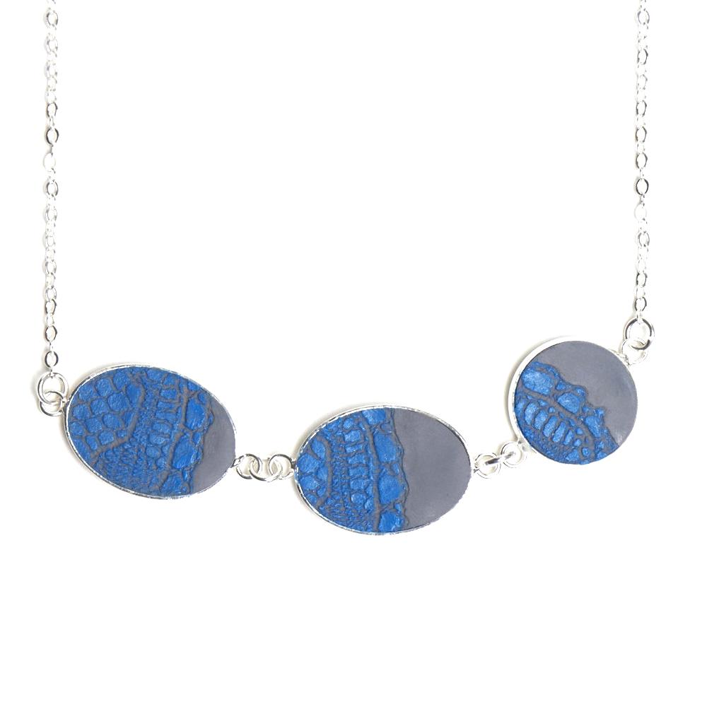 Artisan, Eco-Friendly, Designer Terza Rima Blue Necklace