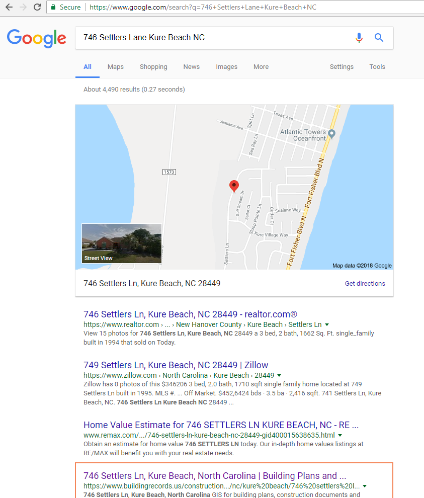 Increase Online Exposure 746 Settlers Lane Kure Beach NC Google Search