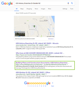 Construction Marketing Tool - Building Plans featured on search engines