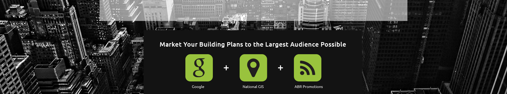 Market your building plans on Google and the national GIS for construction