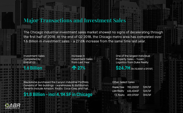Chicago Industrial Market Q2 2018 - Investment Sales and Leases