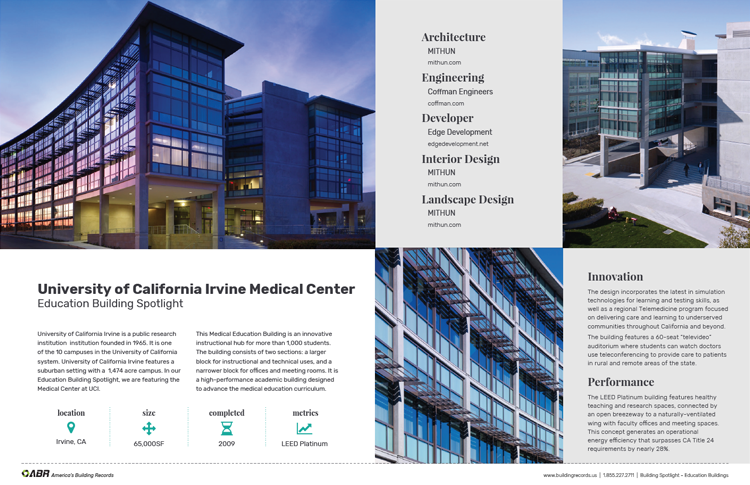 PDF Education Building Spotlight UCI Medical Center