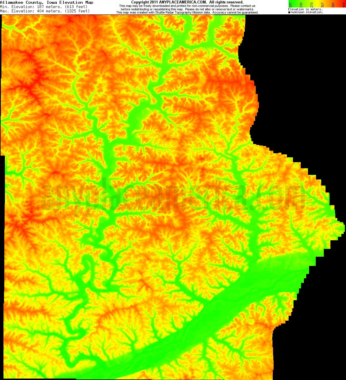 free allamakee county iowa topo maps elevations free allamakee county iowa topo maps