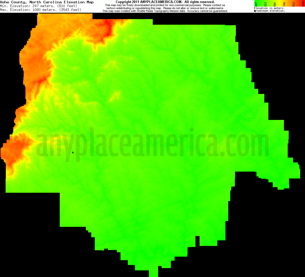 Free Ashe County North Carolina Topo Maps Elevations