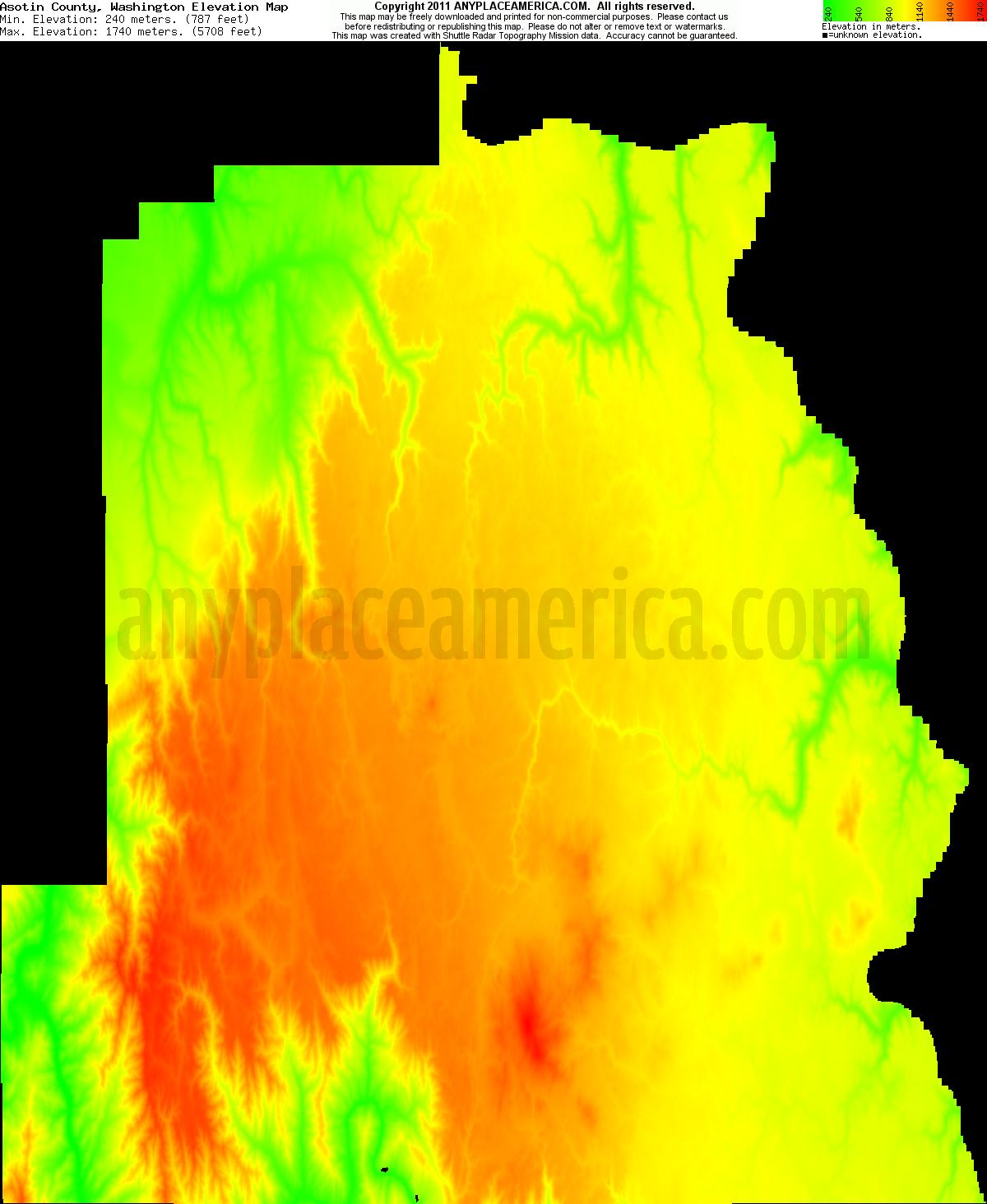 Elevation Of Washington County Ar Usa: Free Asotin County, Washington Topo Maps & Elevations