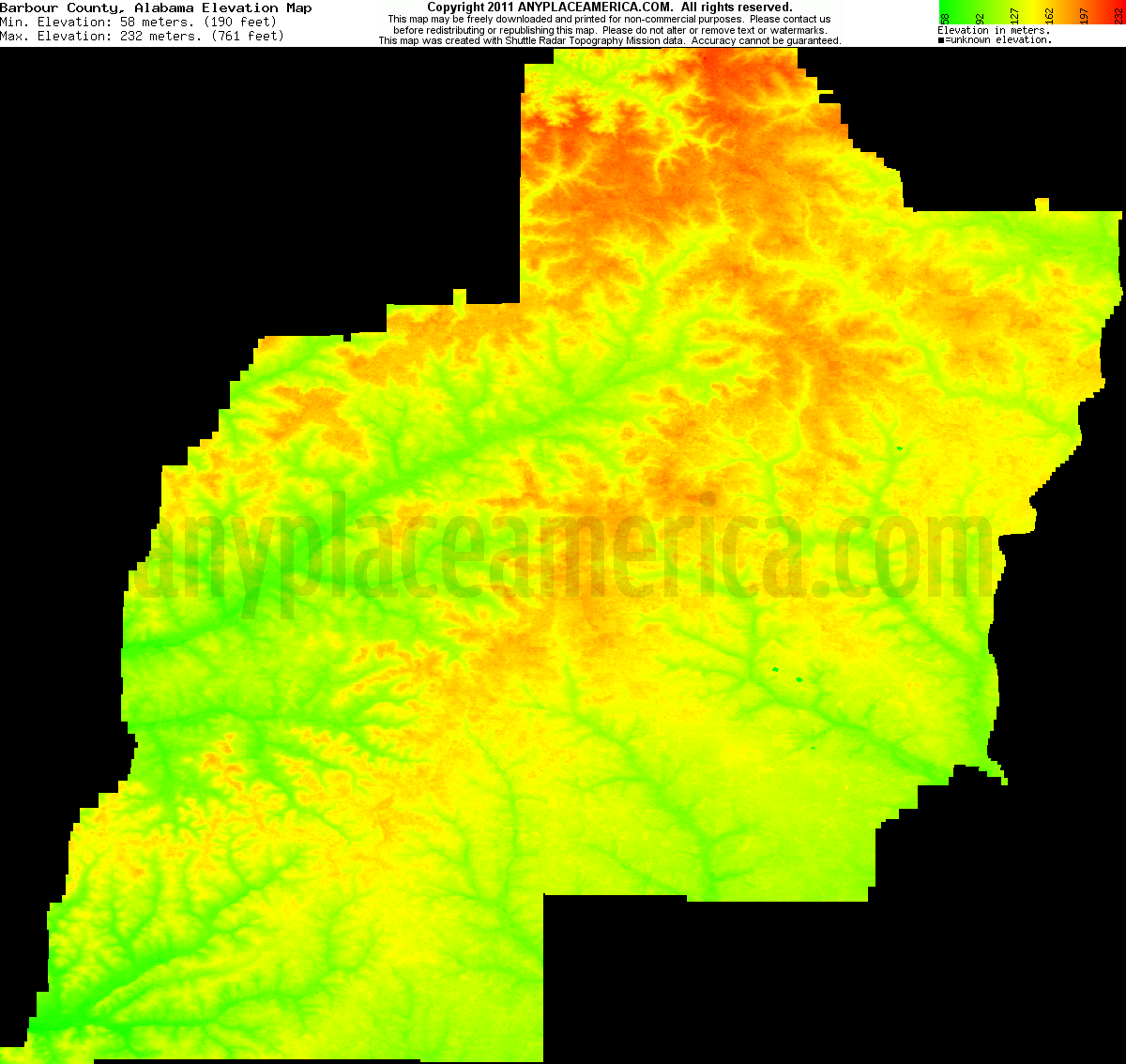 Free Barbour County Alabama Topo Maps Elevations