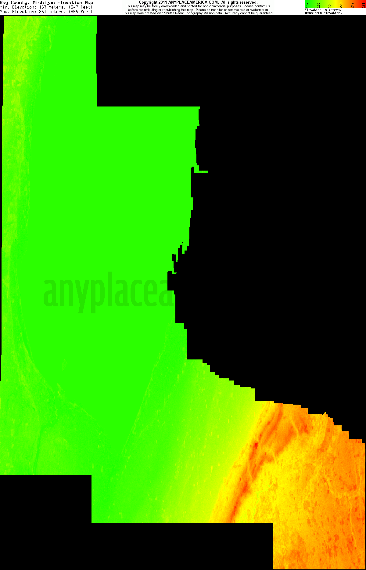 Michigan bay county auburn - Download Bay County Elevation Map