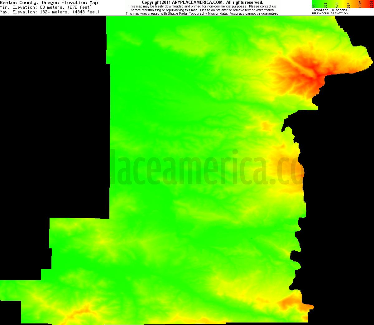 Elevation Of Washington County Ar Usa: Free Benton County, Oregon Topo Maps & Elevations