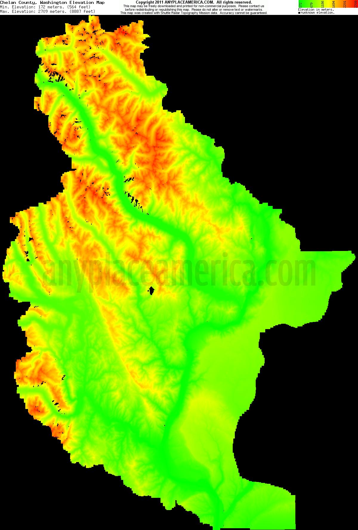 26 elegant Washington Elevation Map