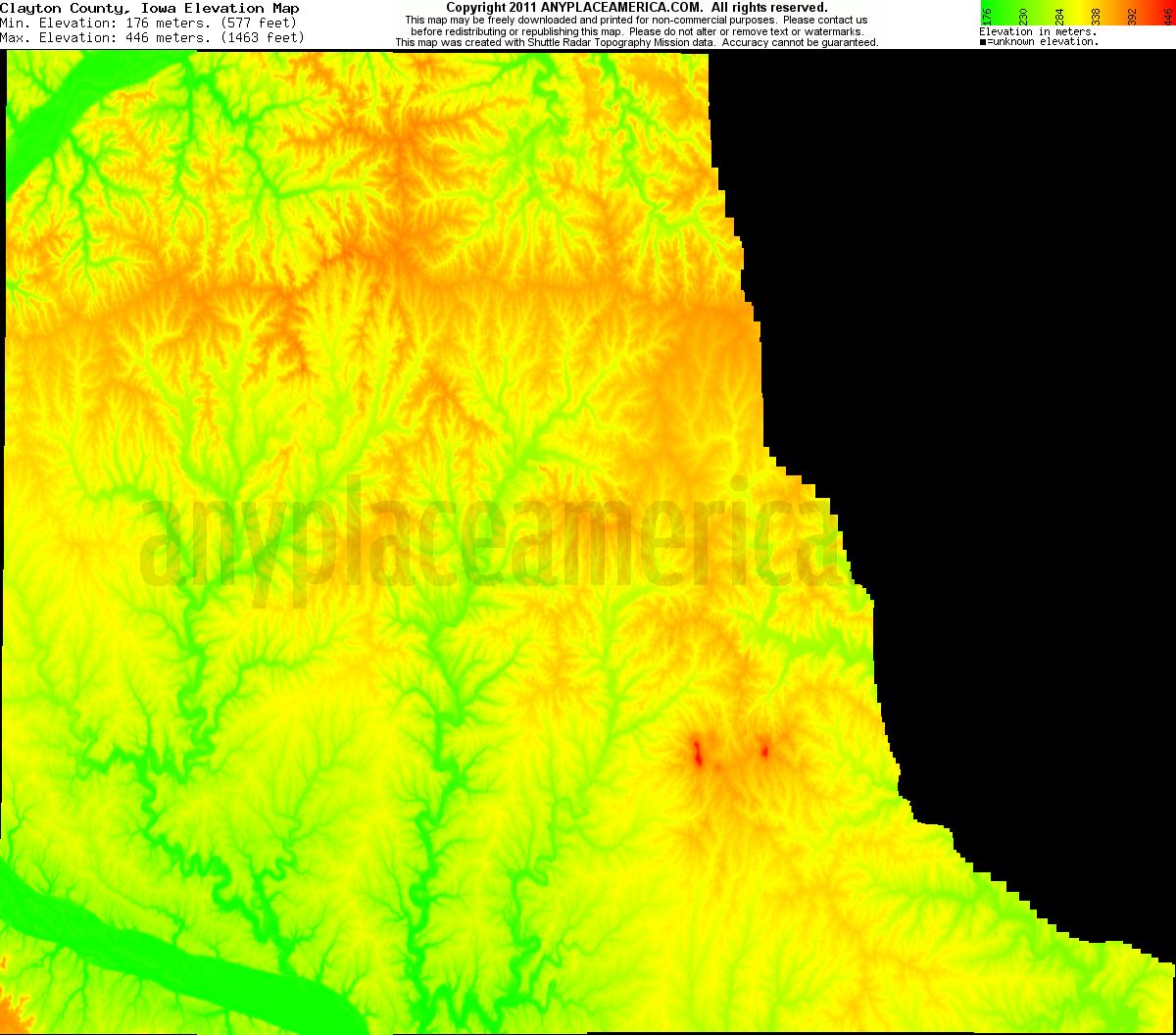 free clayton county iowa topo maps elevations free clayton county iowa topo maps