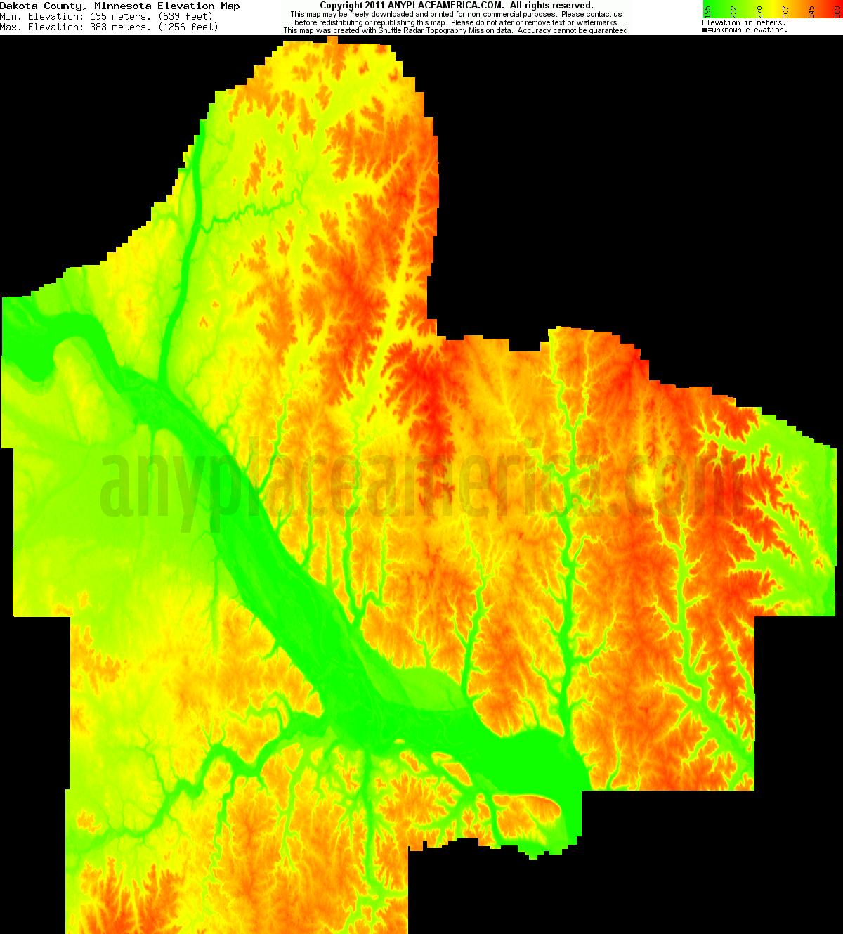 Free Dakota County Minnesota Topo Maps Amp Elevations