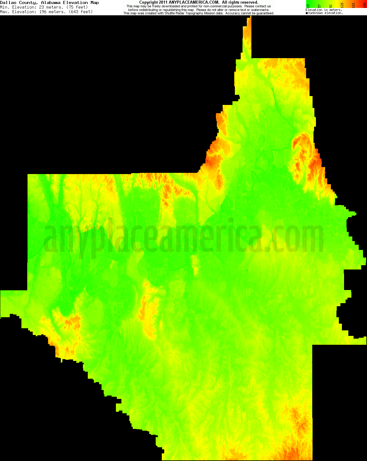 Free Dallas County Alabama Topo Maps Elevations