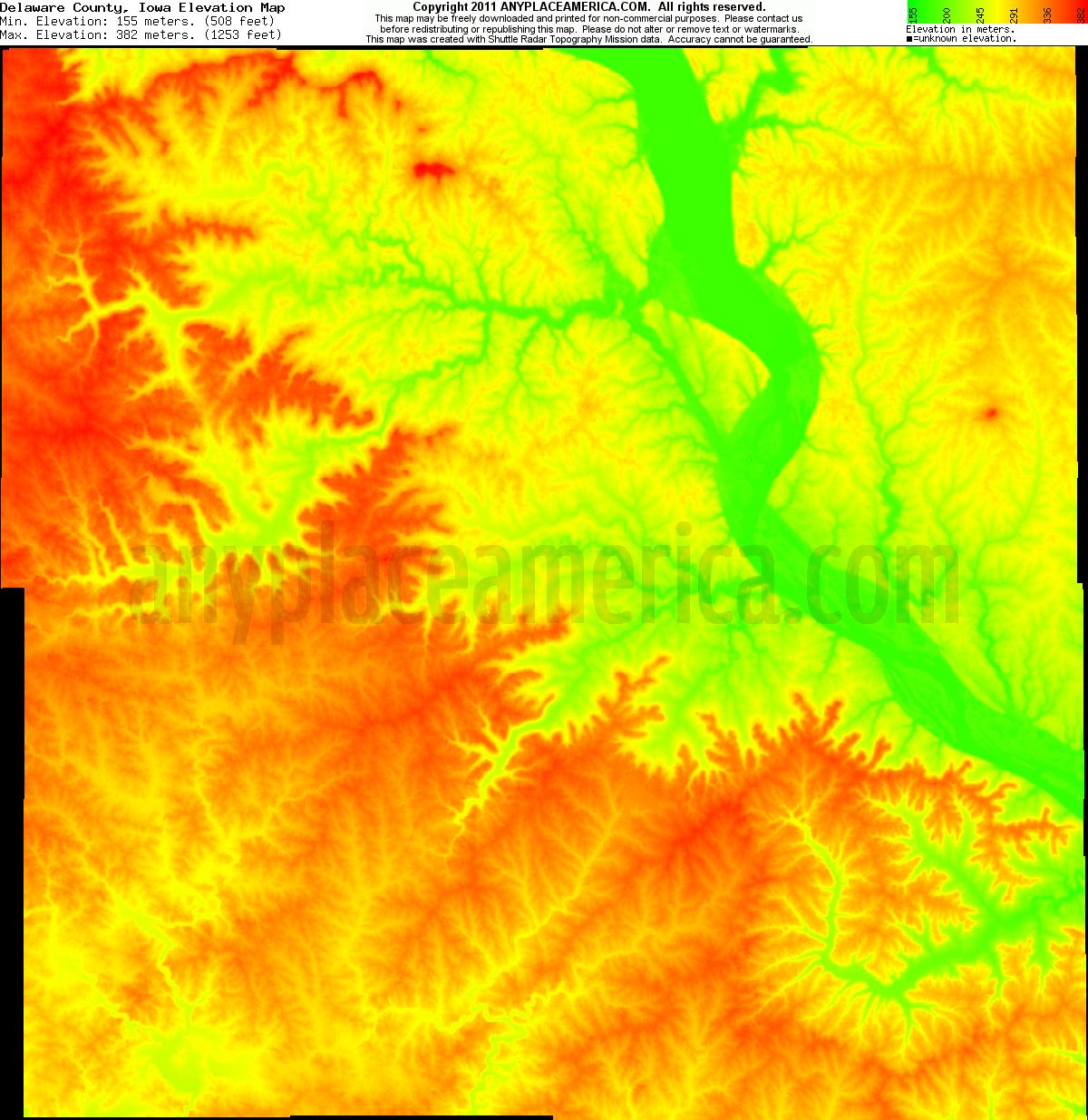 free delaware county iowa topo maps elevations free delaware county iowa topo maps