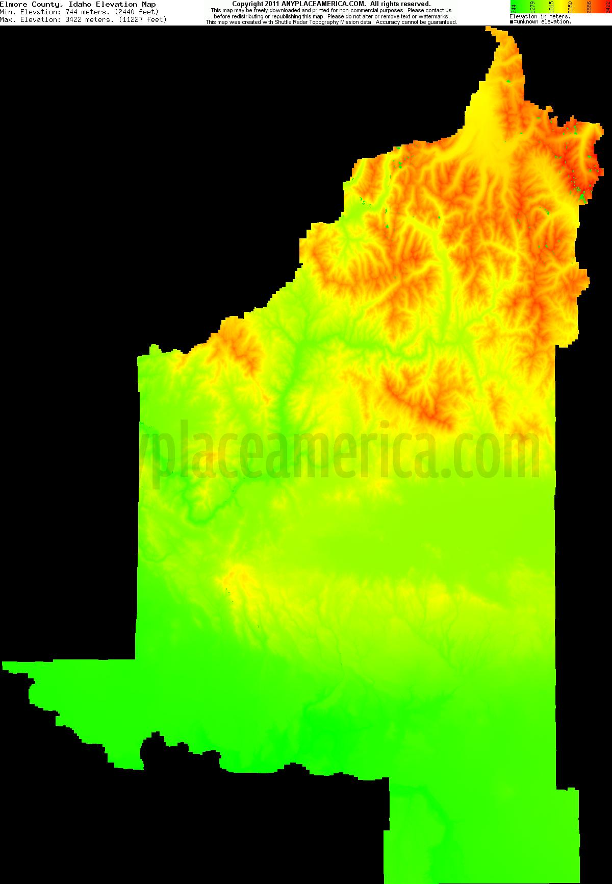 Free Elmore County, Idaho Topo Maps & Elevations