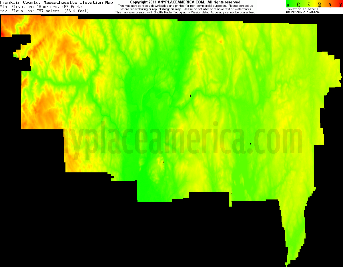 Download Franklin County Elevation Map