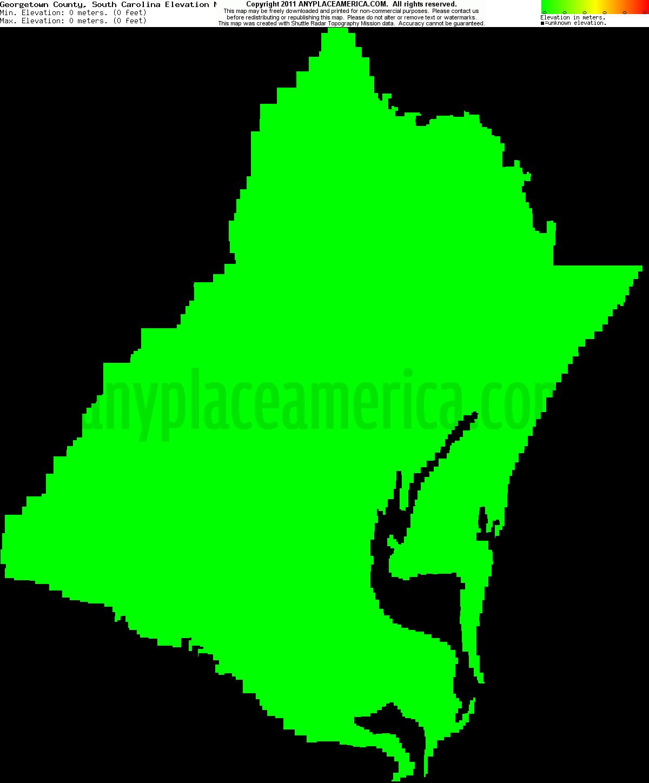 Free Georgetown County South Carolina Topo Maps Elevations - South carolina elevation map