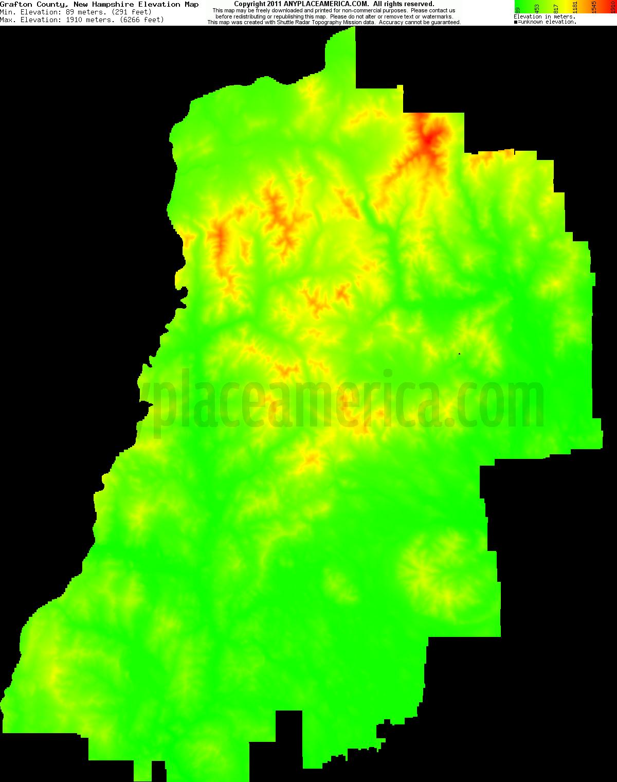 Free Grafton County New Hampshire Topo Maps Elevations