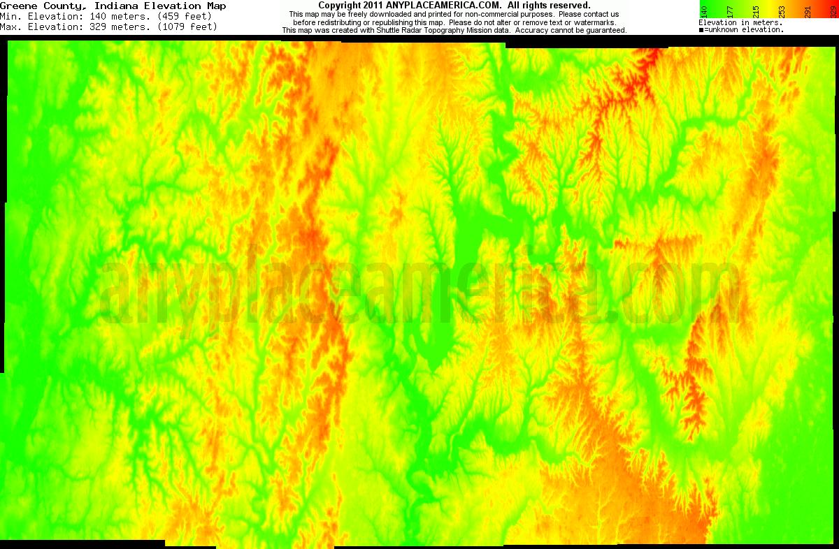 Free Greene County Indiana Topo Maps Elevations