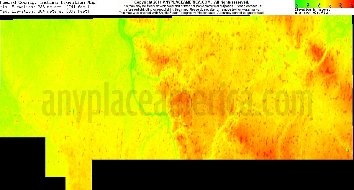 Howard County Indiana Map.Free Howard County Indiana Topo Maps Elevations