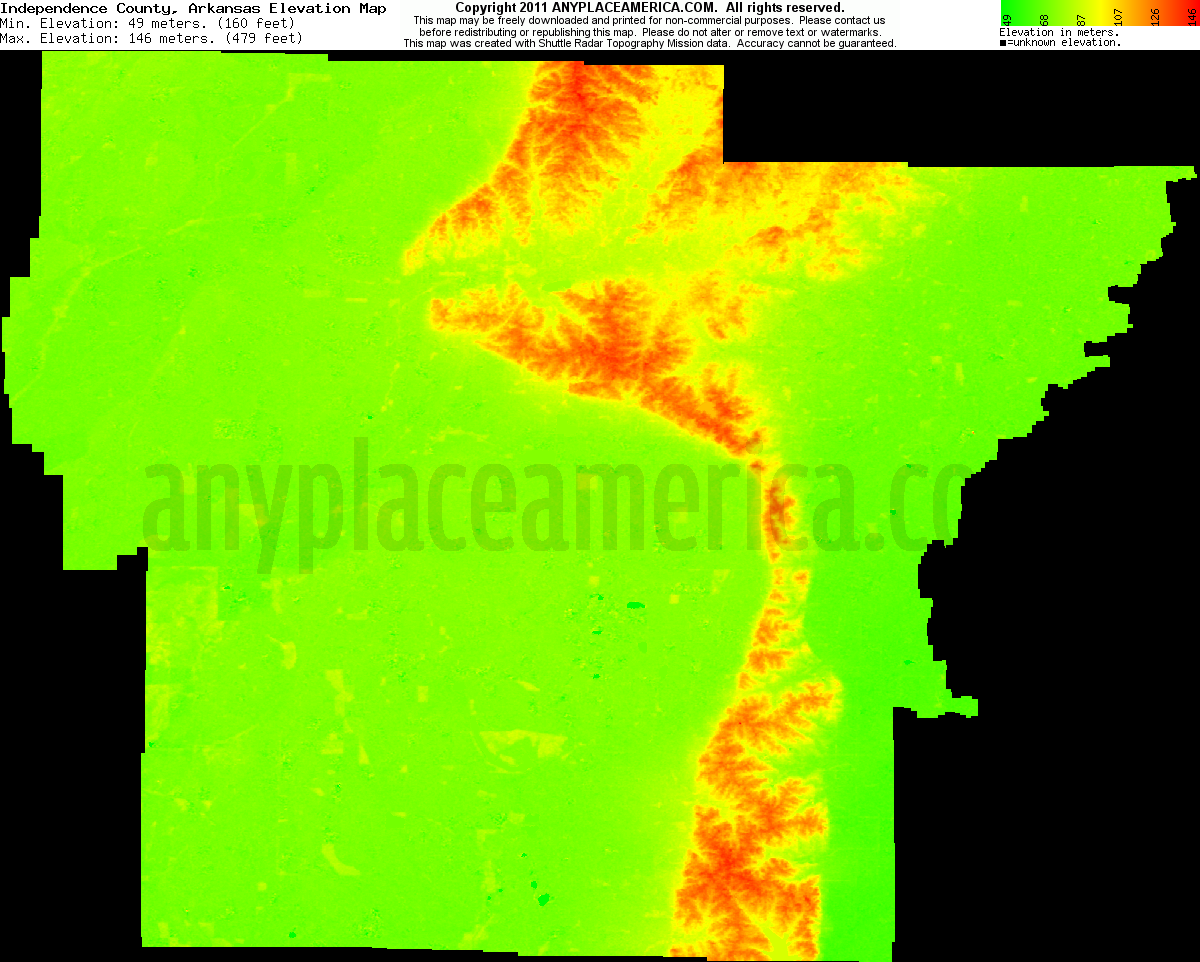 Free Independence County Arkansas Topo Maps Amp Elevations