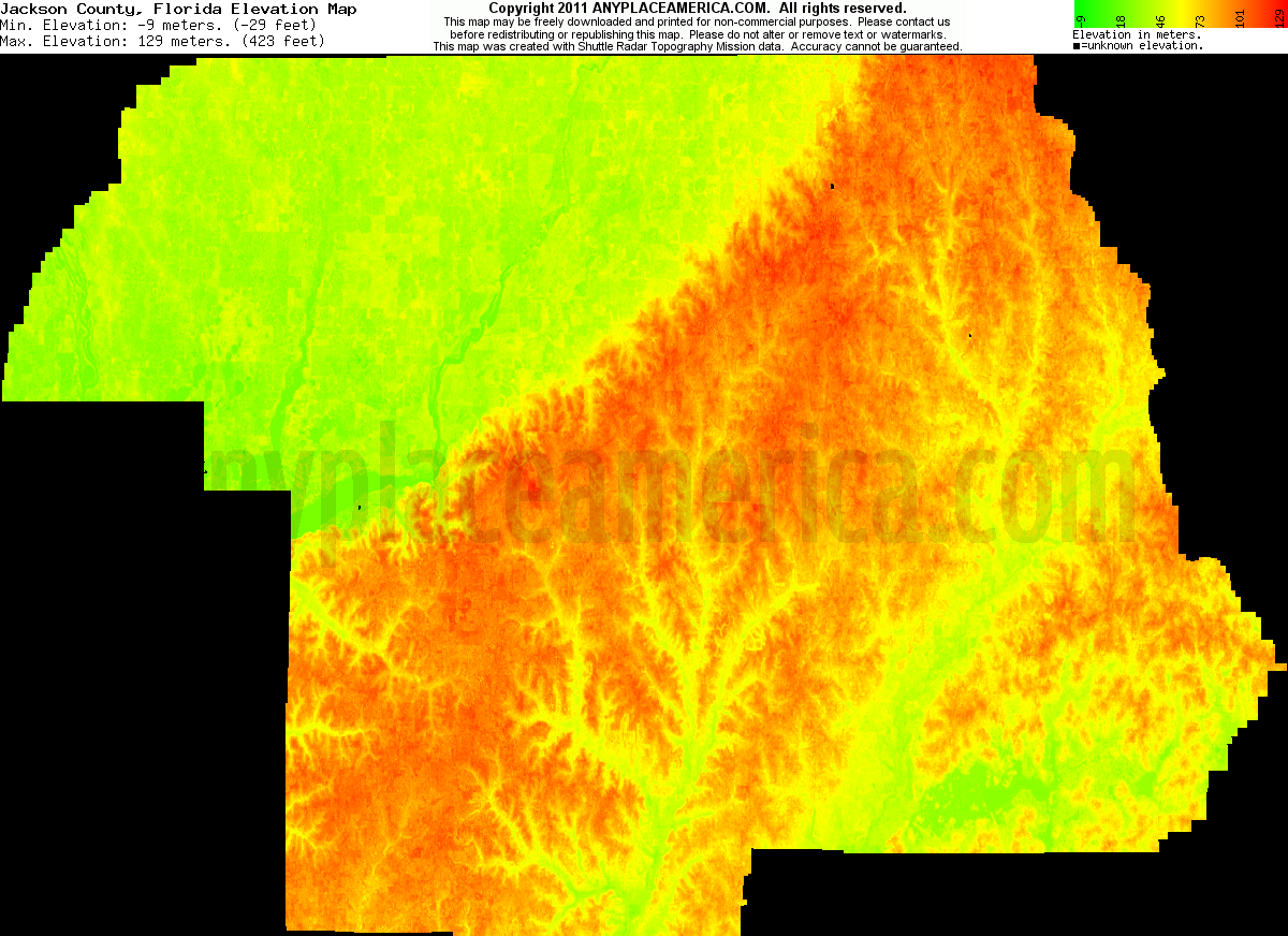 Free Jackson County Florida Topo Maps Elevations