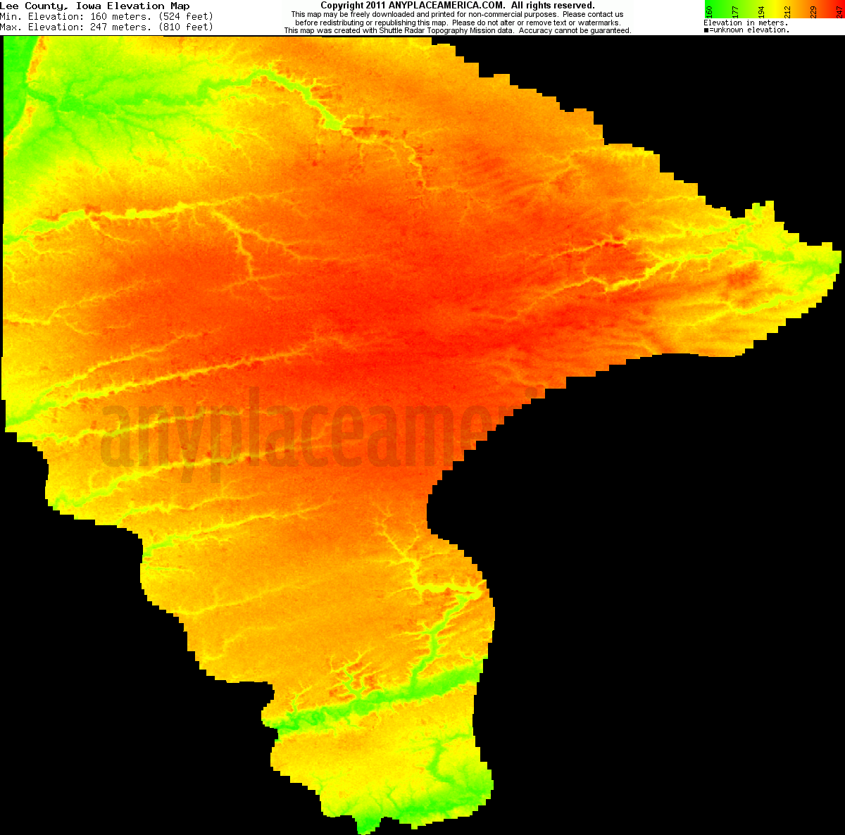 free lee county iowa topo maps elevations free lee county iowa topo maps