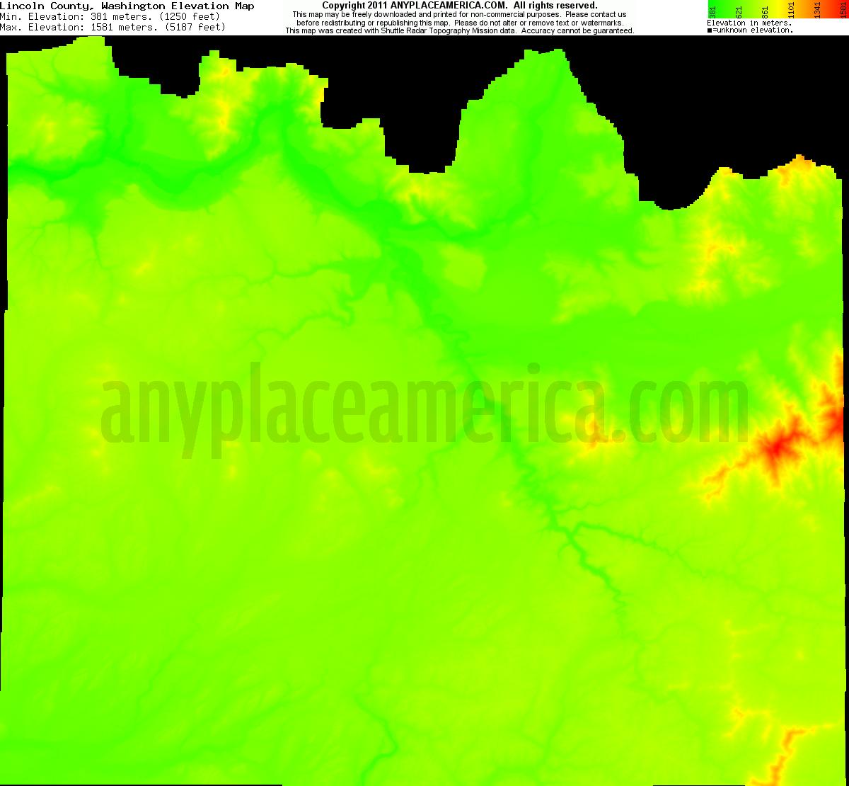 Elevation Of Washington County Ar Usa: Free Lincoln County, Washington Topo Maps & Elevations
