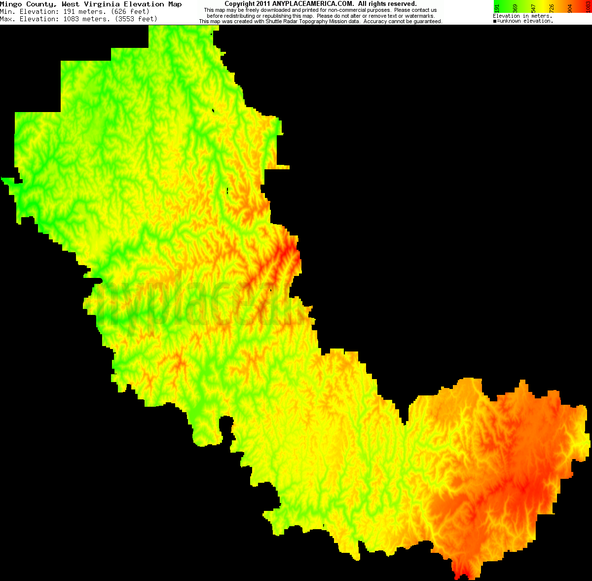 Free Mingo County, West Virginia Topo Maps & Elevations