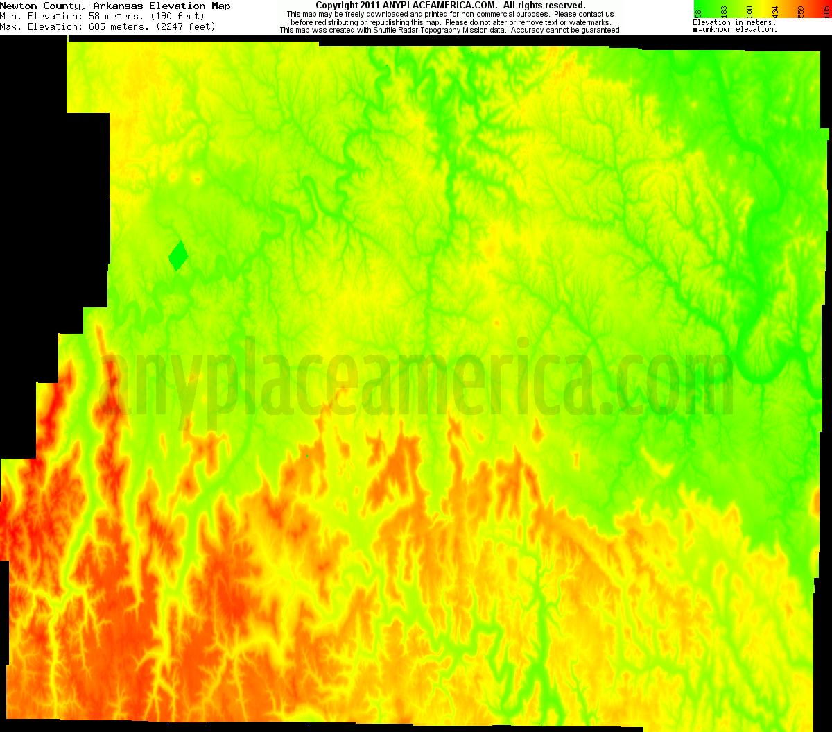 Elevation Of Washington County Ar Usa: Free Newton County, Arkansas Topo Maps & Elevations