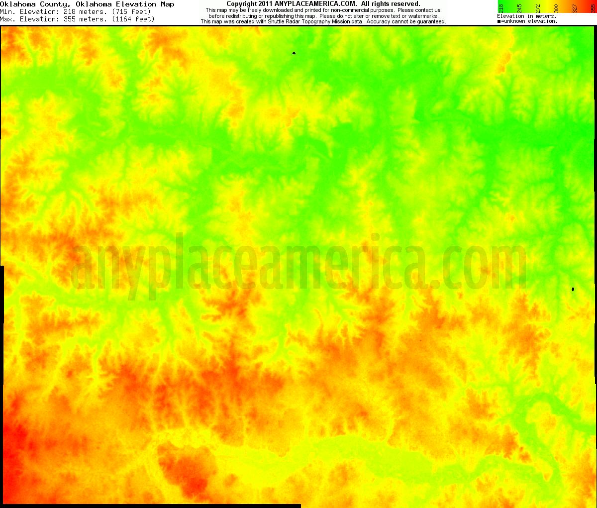 Free Oklahoma County Oklahoma Topo Maps Elevations