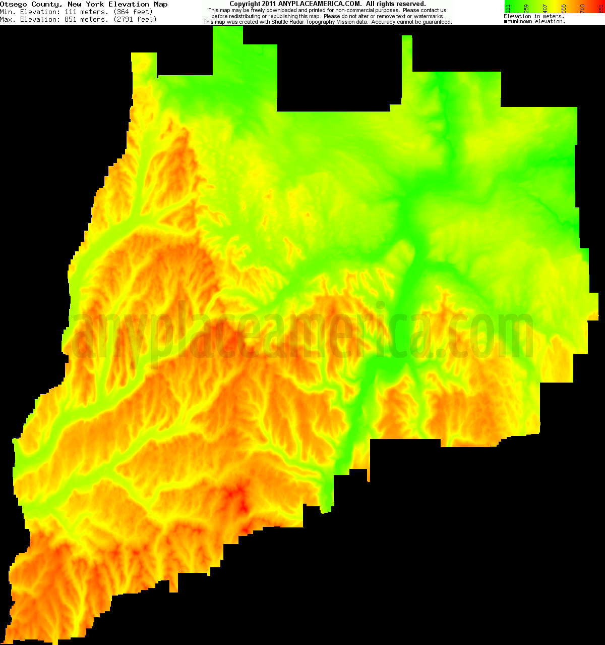 New york otsego county cherry valley - Download Otsego County Elevation Map