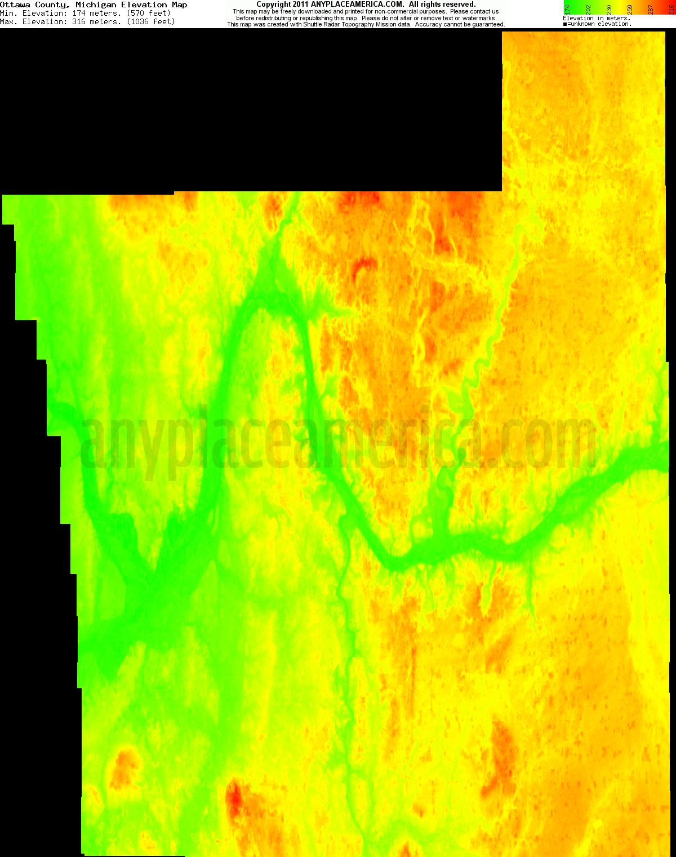 Free Ottawa County Michigan Topo Maps Elevations