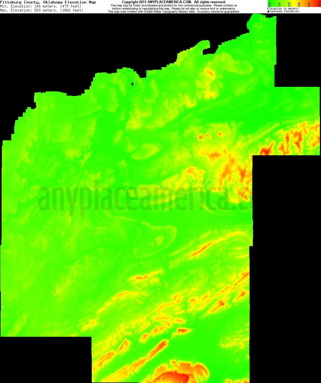 Free Pittsburg County Oklahoma Topo Maps Amp Elevations