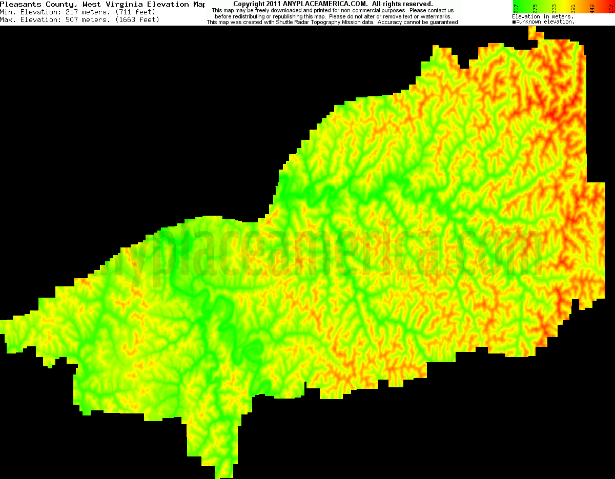 Topographic Map West Virginia.Free Pleasants County West Virginia Topo Maps Elevations