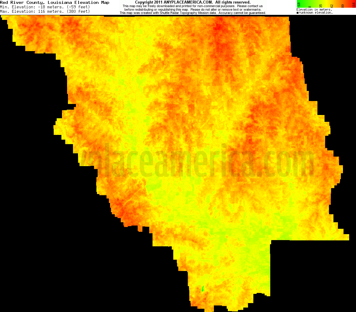 Free Red River Parish Louisiana Topo Maps Elevations - Us map red river