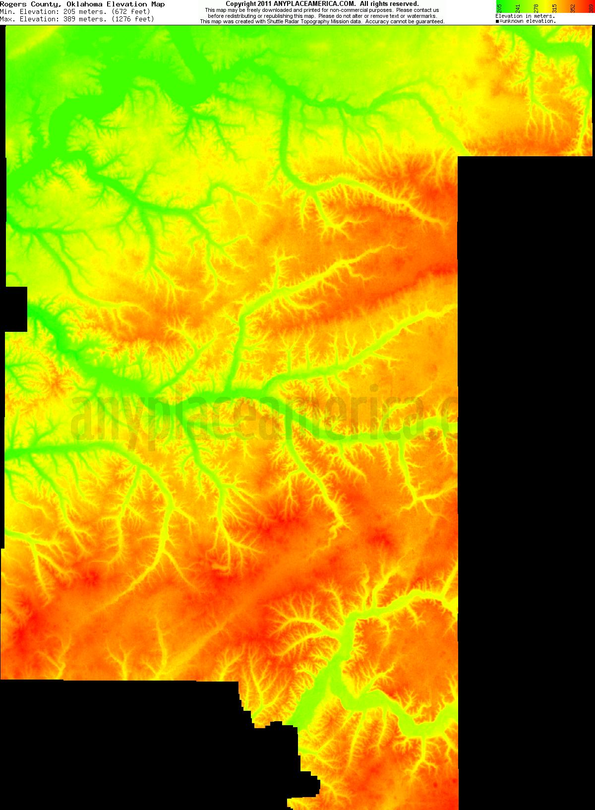 Free Rogers County, Oklahoma Topo Maps & Elevations
