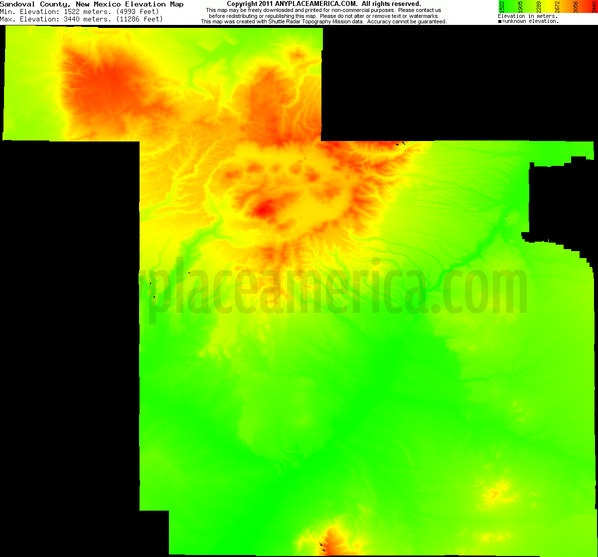 New mexico sandoval county counselor - Download Sandoval County Elevation Map