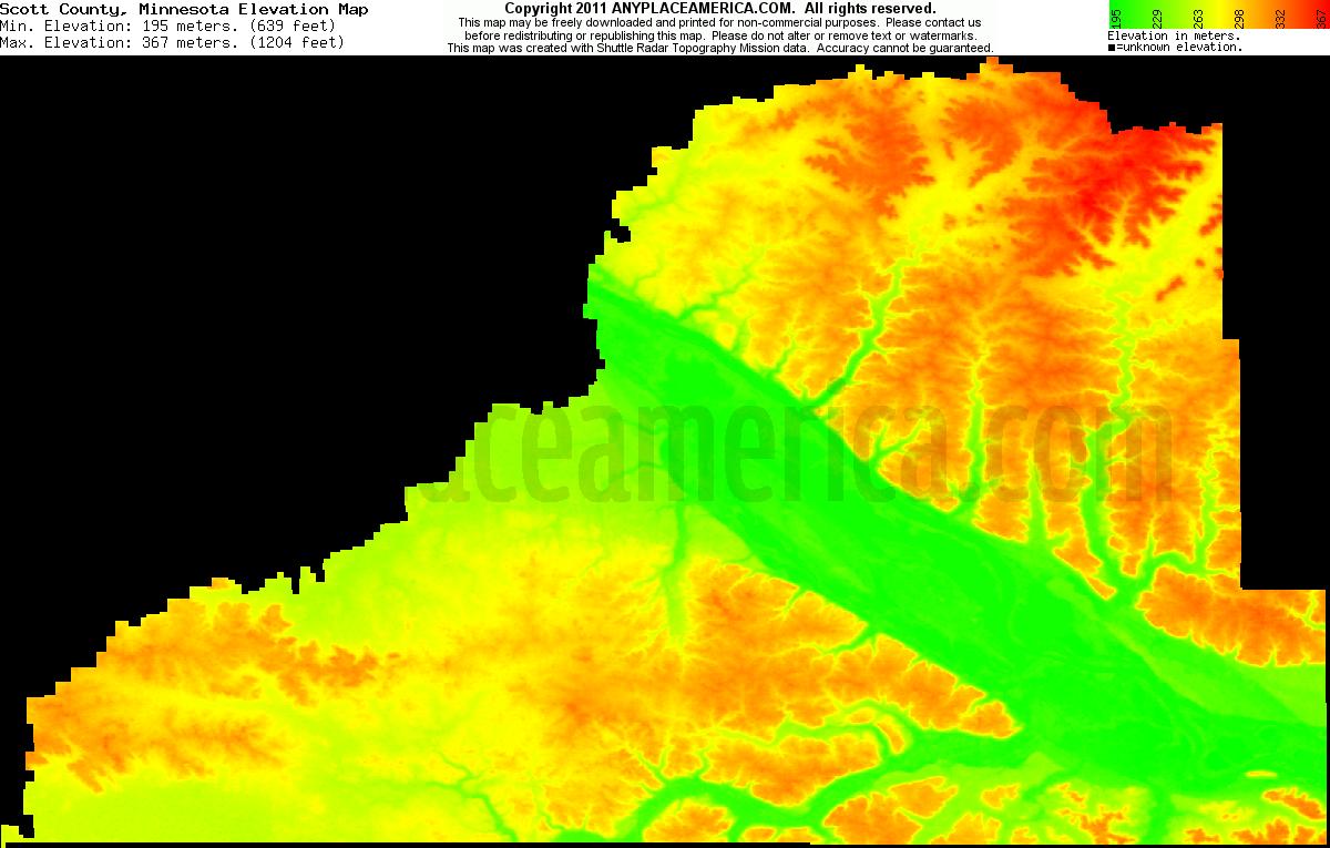 Free Scott County Minnesota Topo Maps Amp Elevations