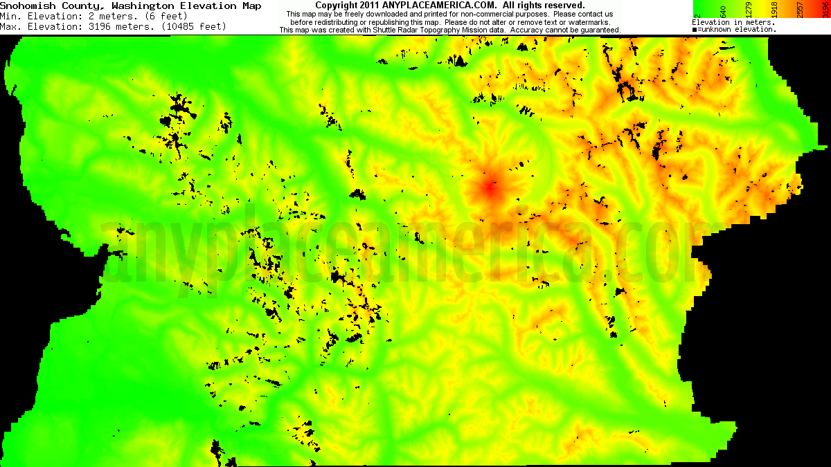 Download Snohomish County Elevation Map