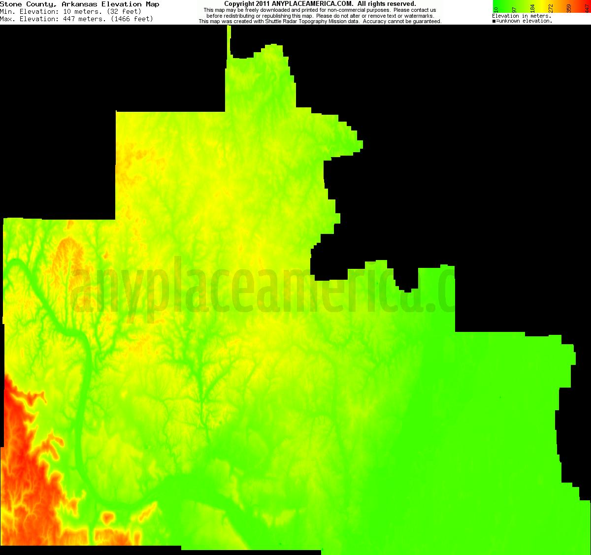 Elevation Of Washington County Ar Usa: Free Stone County, Arkansas Topo Maps & Elevations
