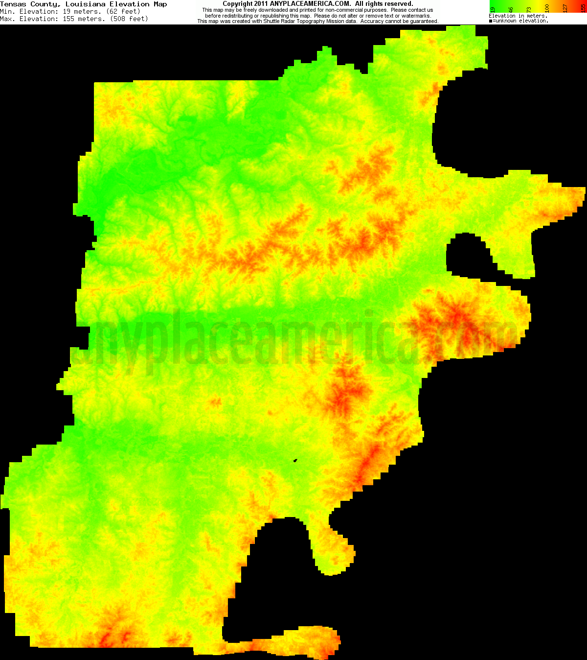 Free Tensas Parish Louisiana Topo Maps Elevations
