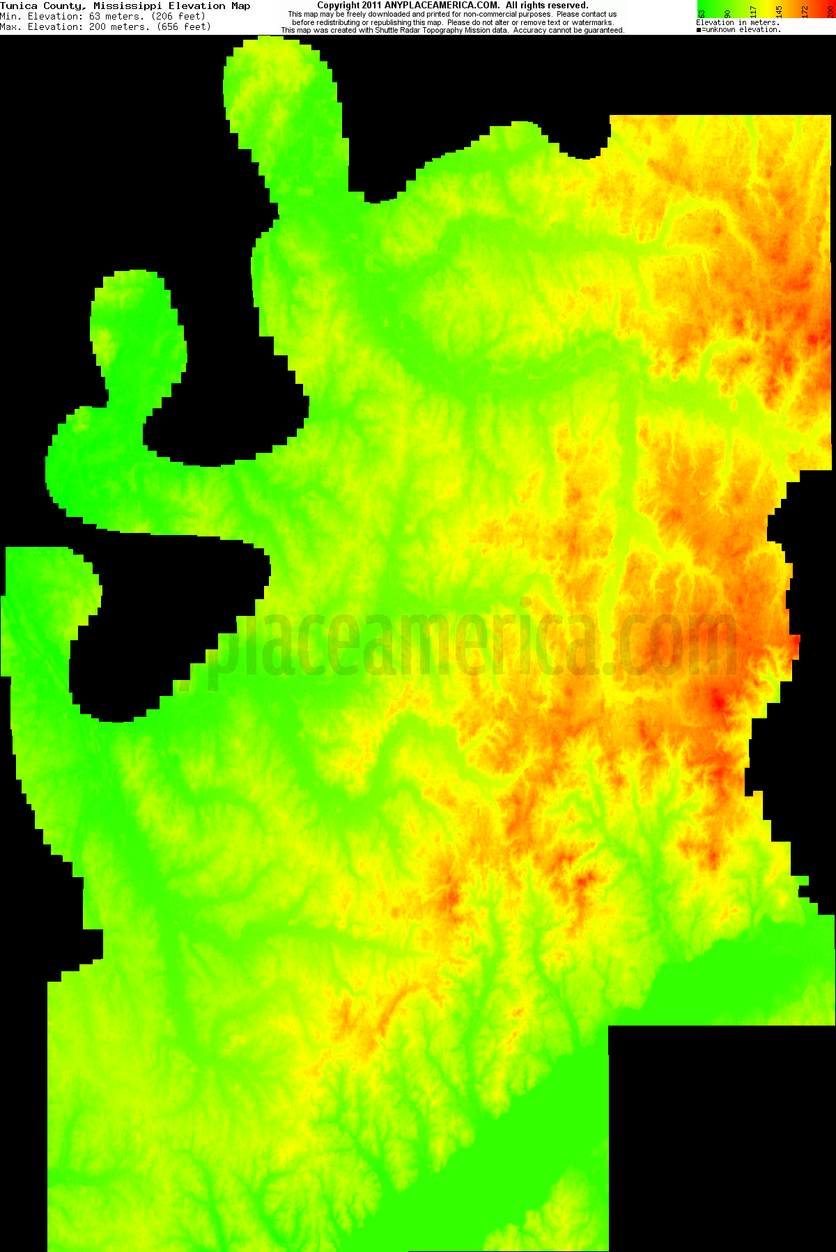 Mississippi tunica county dundee - Download Tunica County Elevation Map