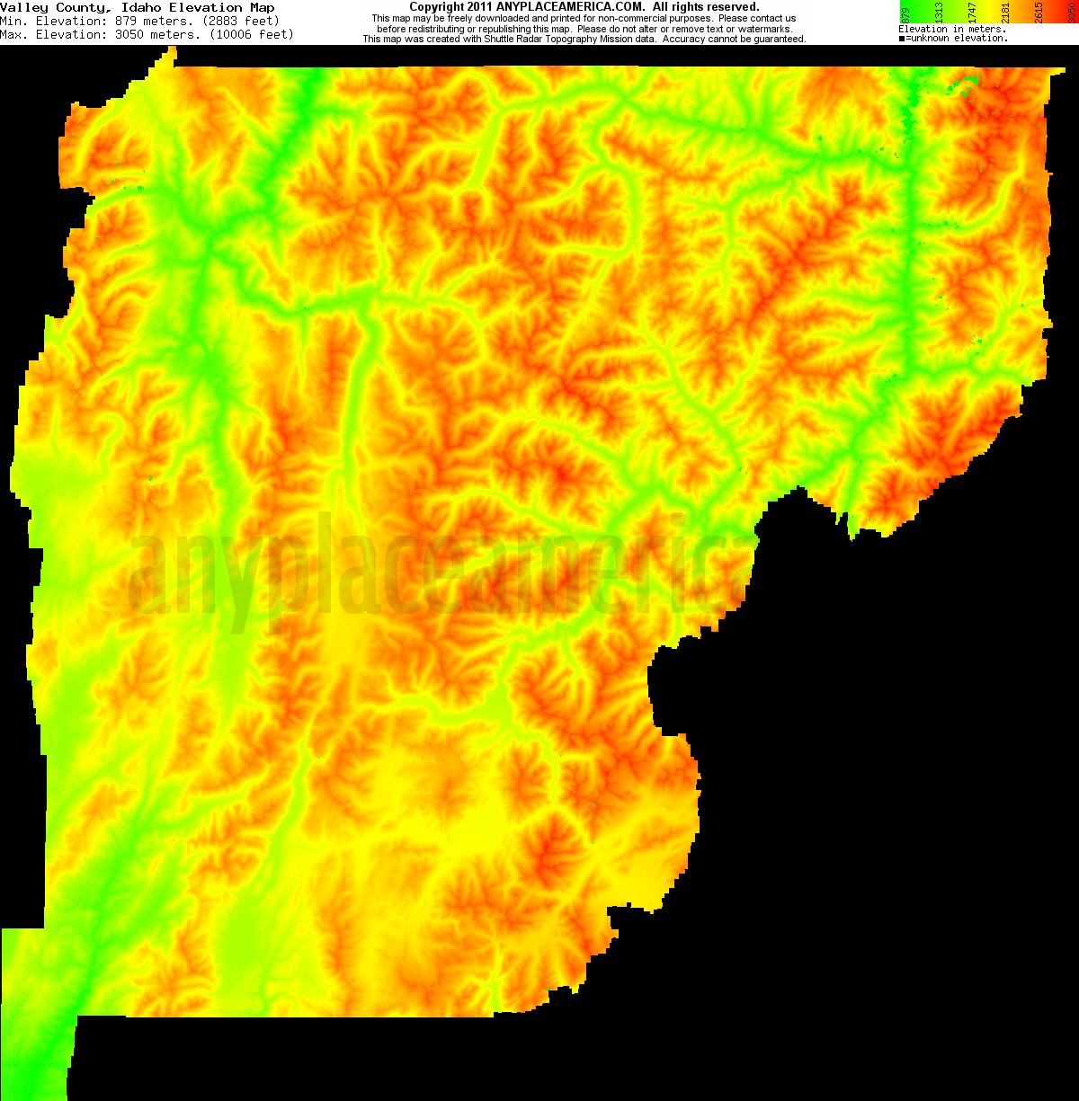 Free Valley County, Idaho Topo Maps & Elevations